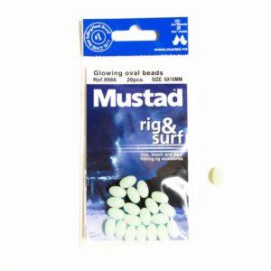 mustadglowingoval Mustad Glowing oval beads
