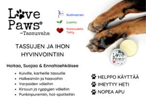 HYLLYMAINOSvalmis 1080x 1 LovePaws® Tassuvaha 50ml