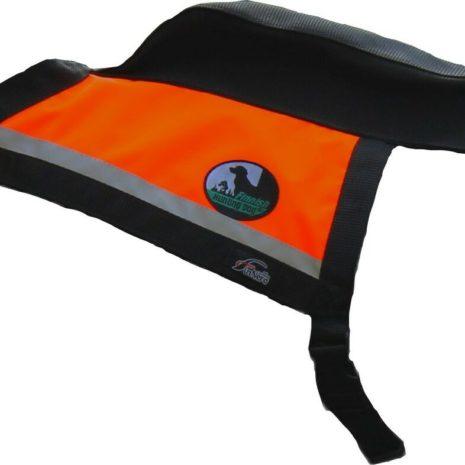 GPS hunting vest orange Kaisu Seppä